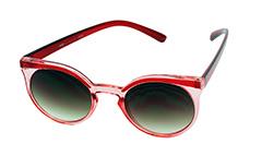 e58cb090db34 Gennemsigtig og rød rund solbrille - Design nr. 1022