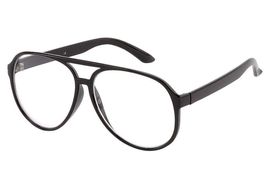 984f3961c919 Briller uden styrke. Sort brille med klart glas ...