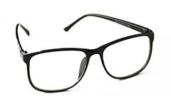 6326d3c9f4f5 Flot og enkelt brille i sort firkantet design - Design nr. 888